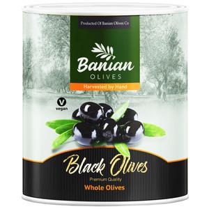 زیتون سیاه بدون هسته بانیان - 3 کیلوگرم
