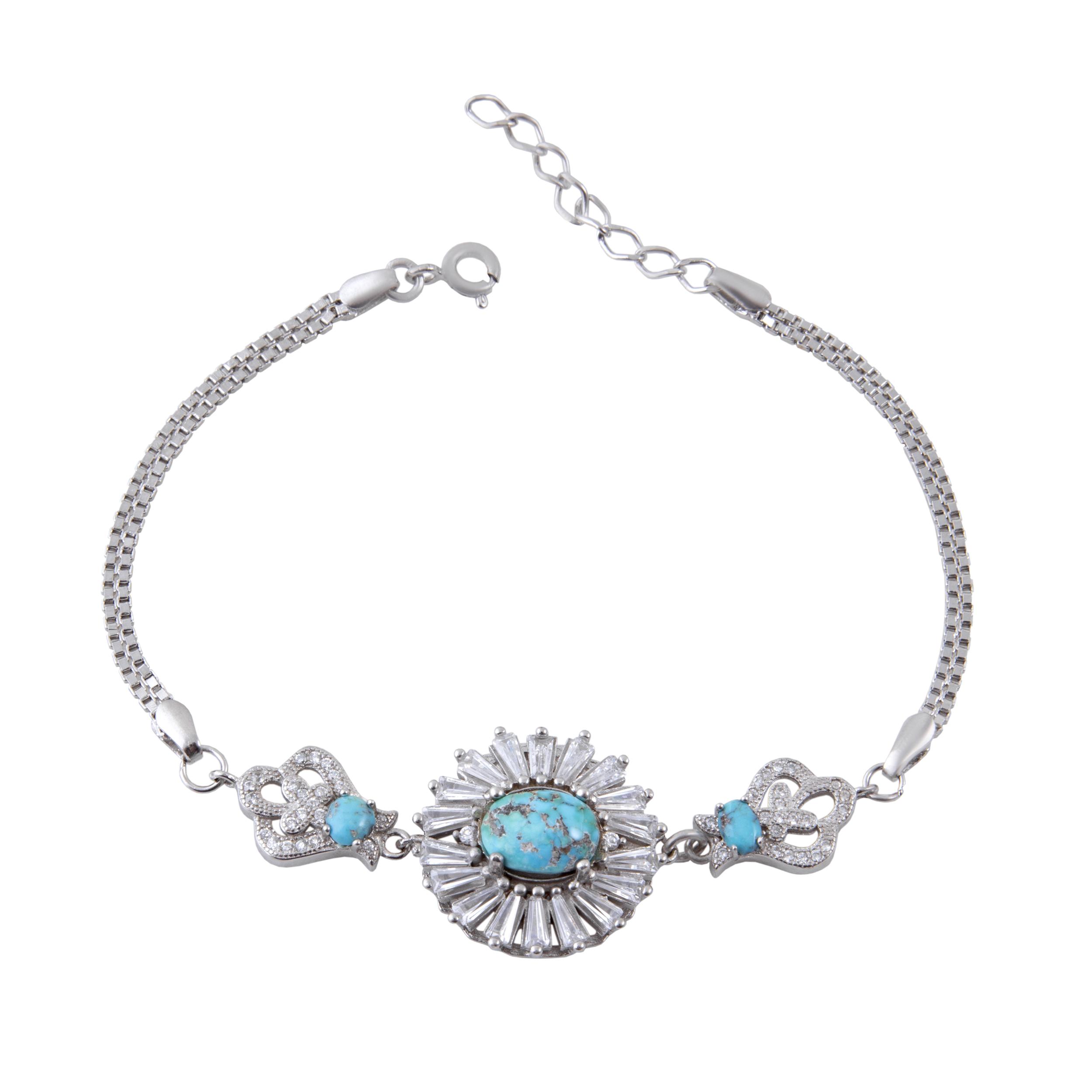دستبند نقره زنانه بازرگانی میلادی کد DP_054
