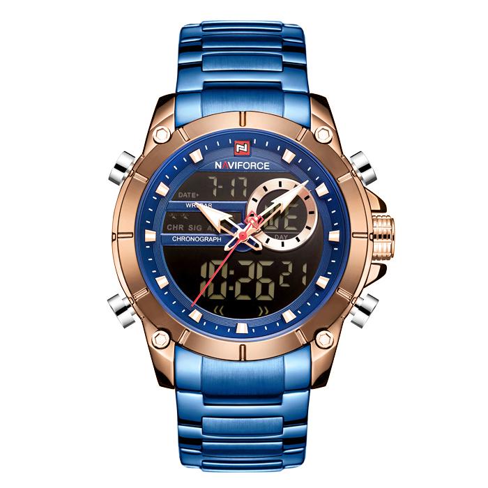 ساعت مچی عقربهای مردانه نیوی فورس مدل  NF9163M - SO-RZ