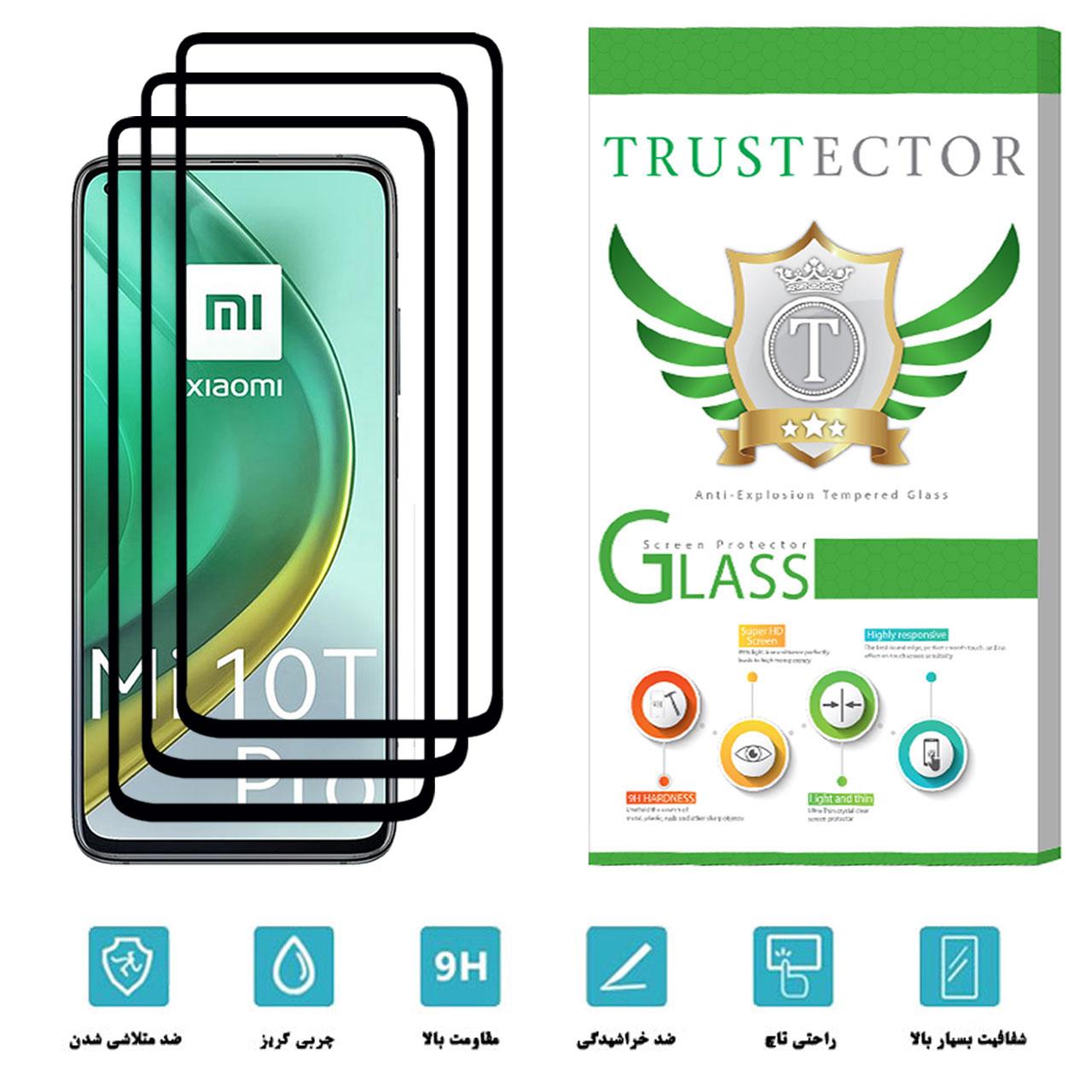 محافظ صفحه نمایش سرامیکی تراستکتور مدل CRM مناسب برای گوشی موبایل شیائومی Mi 10T Pro بسته 3 عددی