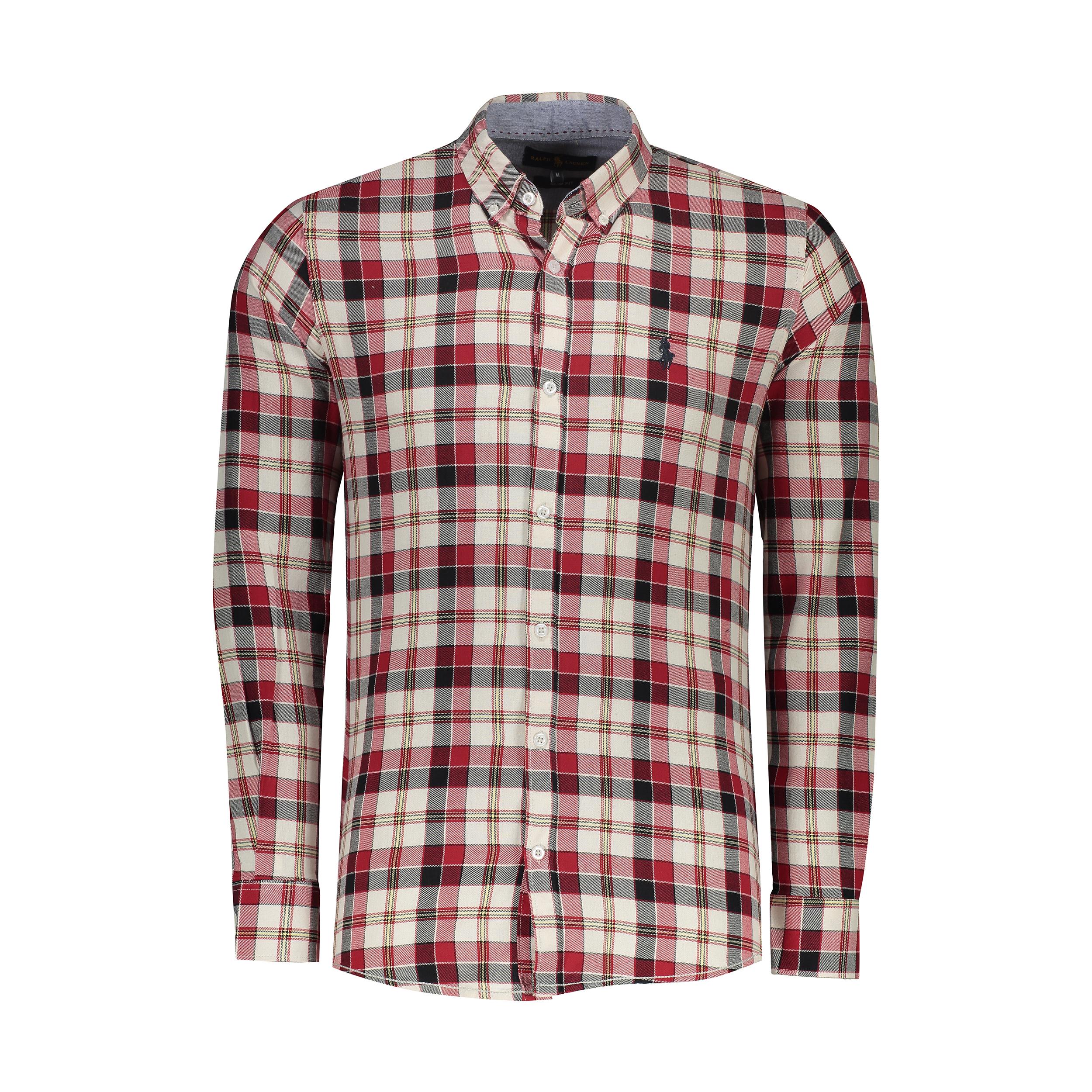 پیراهن آستین بلند مردانه پولو مدل A447