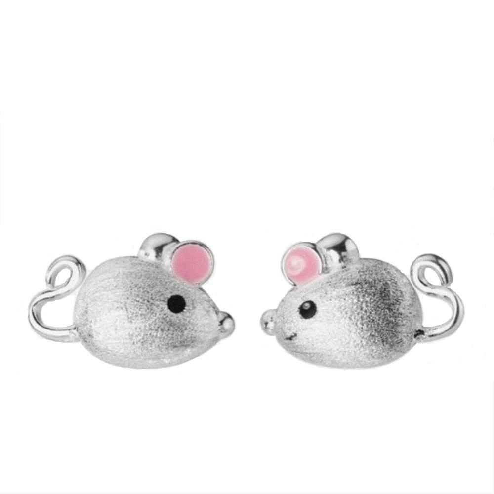 گوشواره نقره زنانه مدل موش