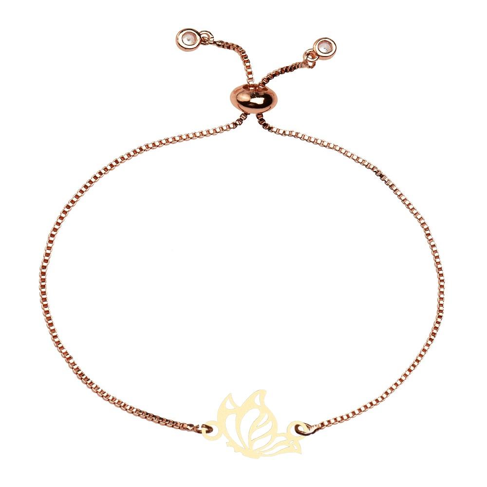 دستبند زنانه کرابو طرح پروانه مدل kb19-51