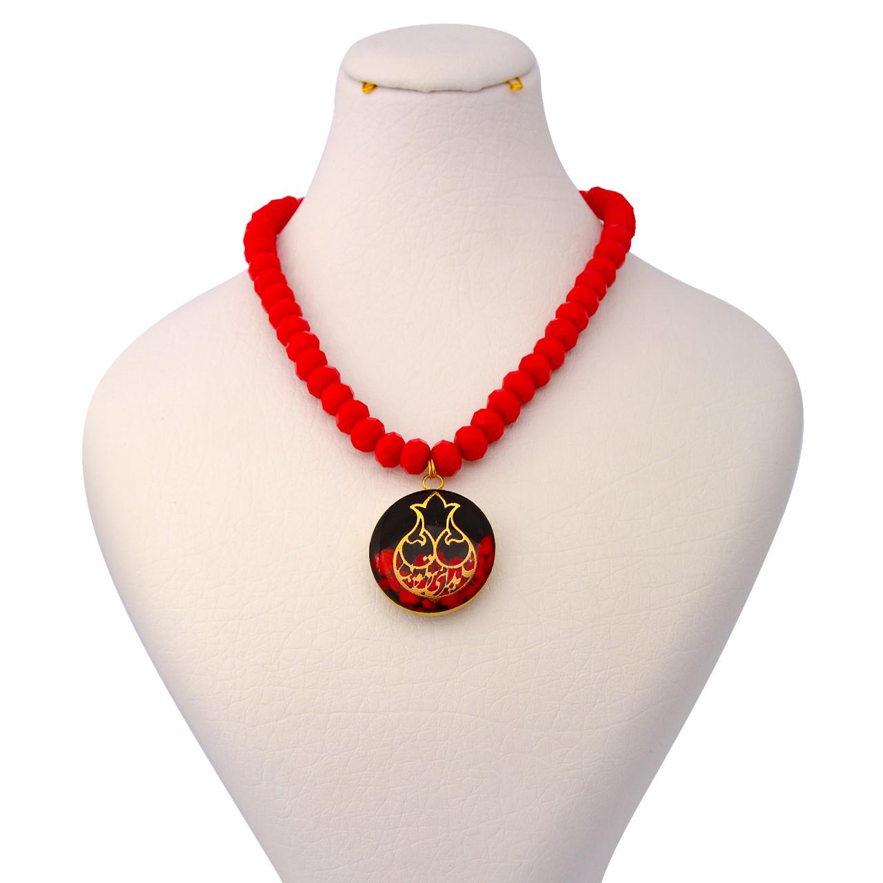 گردنبند طلا 24 عیار زنانه طرح انار کد 1359