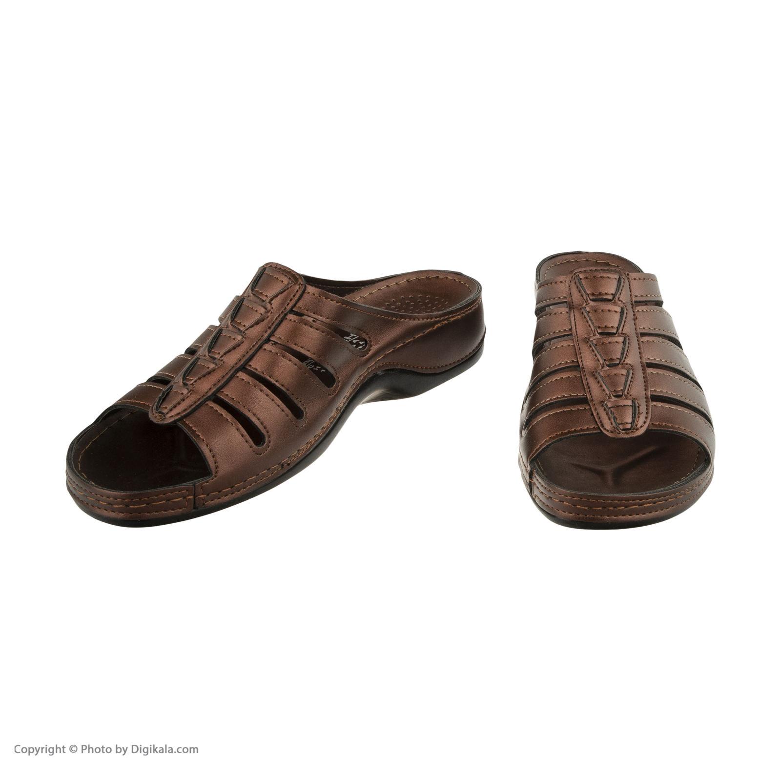 دمپایی زنانه کفش آویده کد av-0304212 رنگ مسی -  - 7
