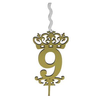 شمع تولد طرح عدد 9