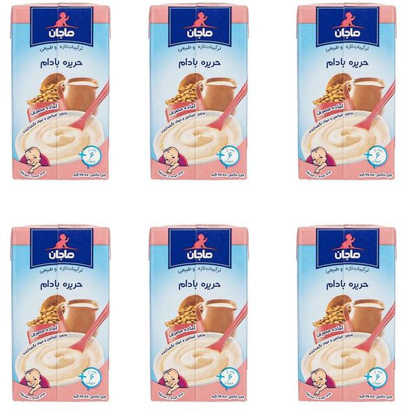 غذای کودک حریره بادام ماجان - 135 گرم بسته 6 عددی