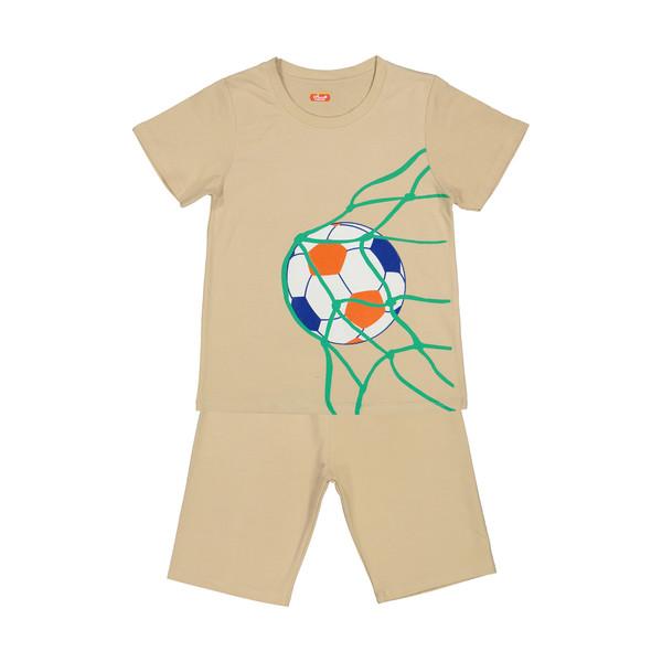 ست تی شرت و شلوارک راحتی پسرانه مادر مدل 2041109-07