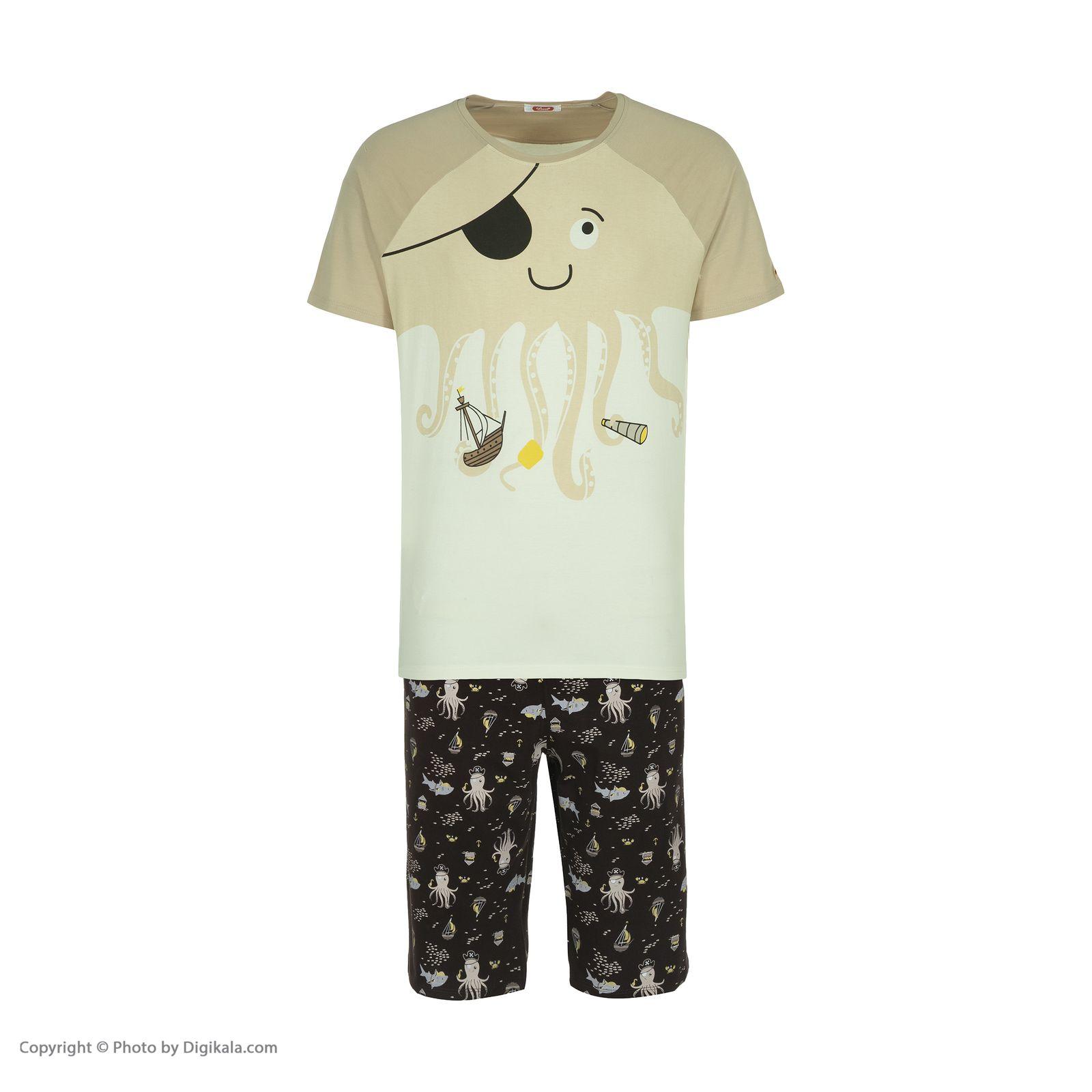 ست تی شرت و شلوارک راحتی مردانه مادر مدل 2041107-07 -  - 3