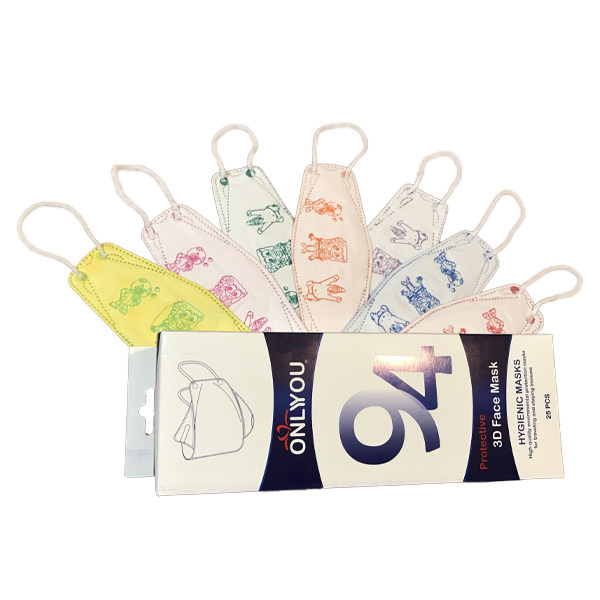 ماسک تنفسی کودک اونلی یو مدل سه بعدی CH3D بسته 25 عددی