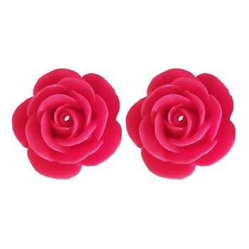 شمع مدل گل رز بسته دو عددی
