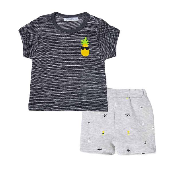 ست تی شرت و شلوارک پسرانه فیورلا مدل 31038