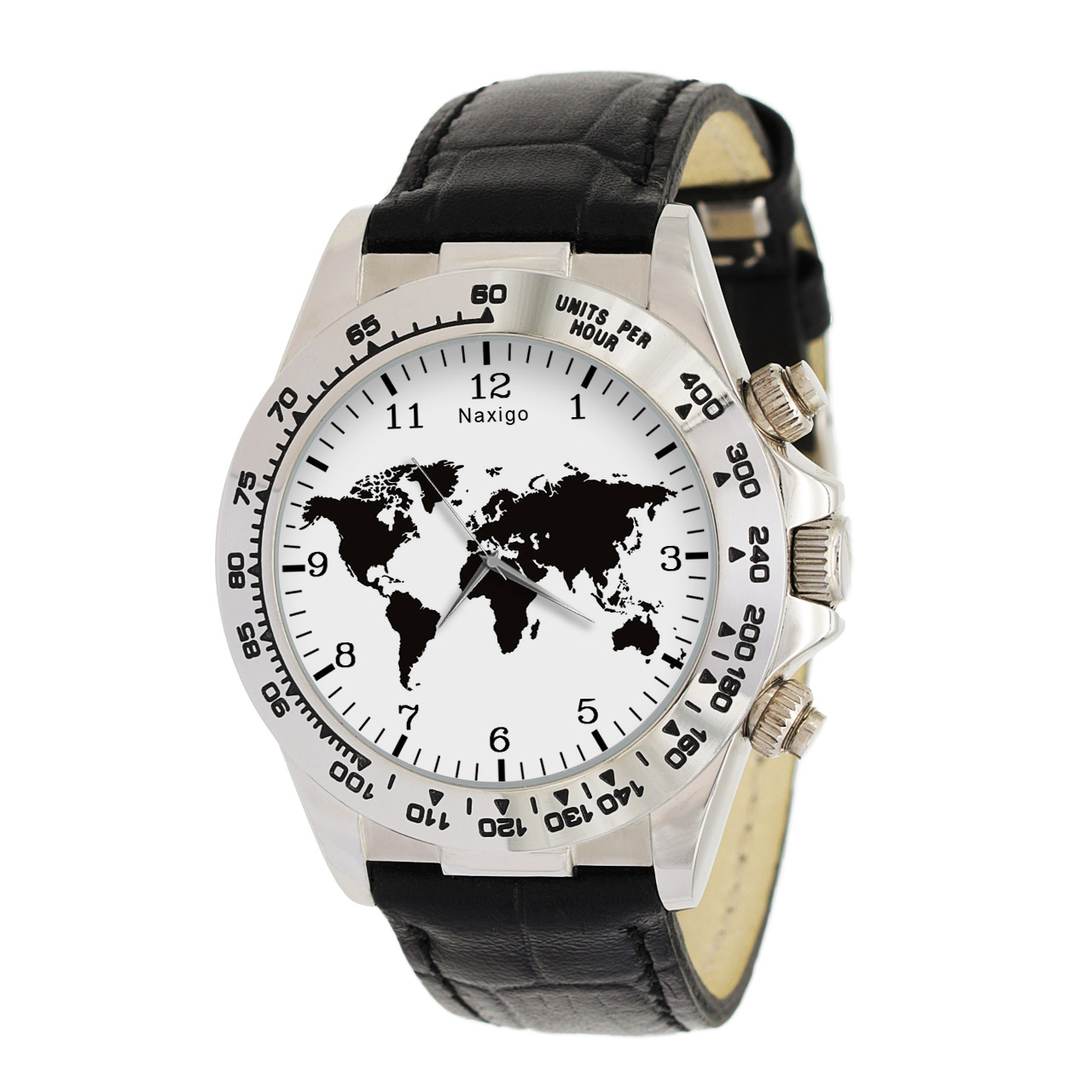 ساعت مچی  مردانه ناکسیگو طرح نقشه جهان کد LS3518