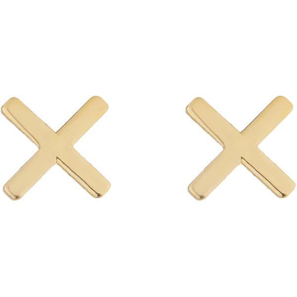 گوشواره طلا 18 عیار زنانه کانیار گالری کد GOA108 -  - 2