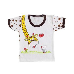 تی شرت آستین کوتاه نوزادی مدل Giraffe