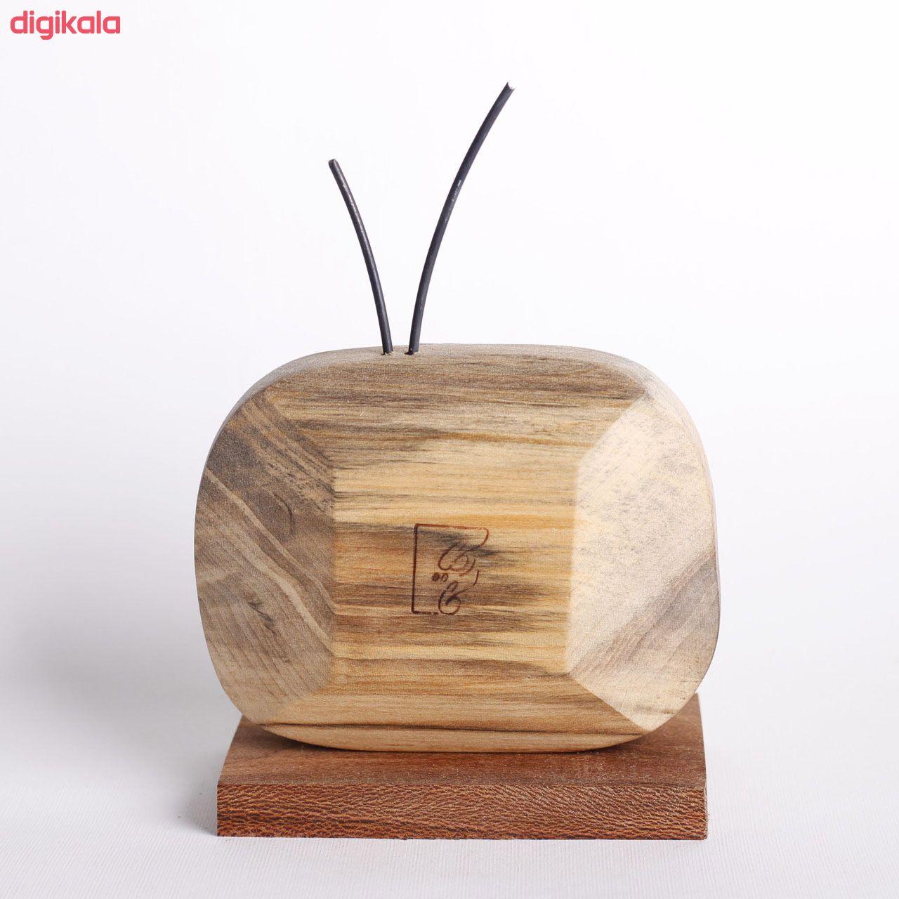 مجسمه چوبی کارکیا طرح تلویزیون کد W22