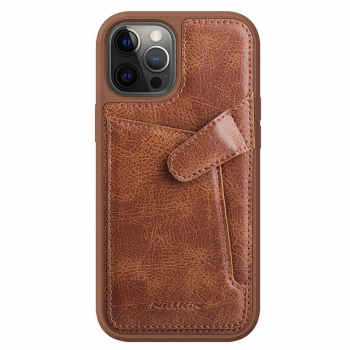 کاور نیلکین مدل aoge Leather Cover مناسب برای گوشی موبایل اپل  Iphone 12/12Pro