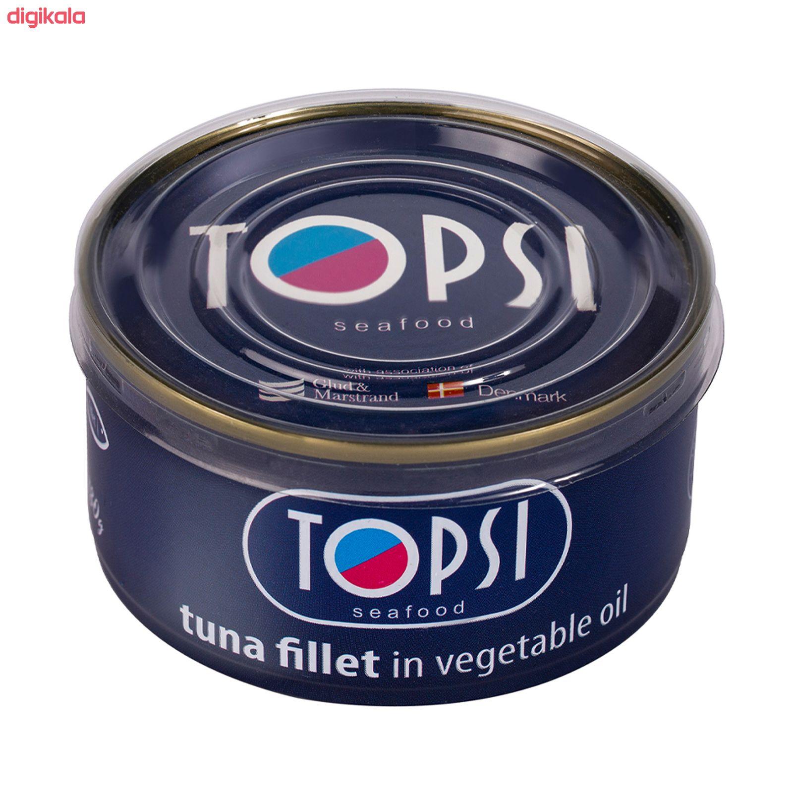 کنسرو ماهی فیله در روغن گیاهی تاپسی  - 180 گرم main 1 2