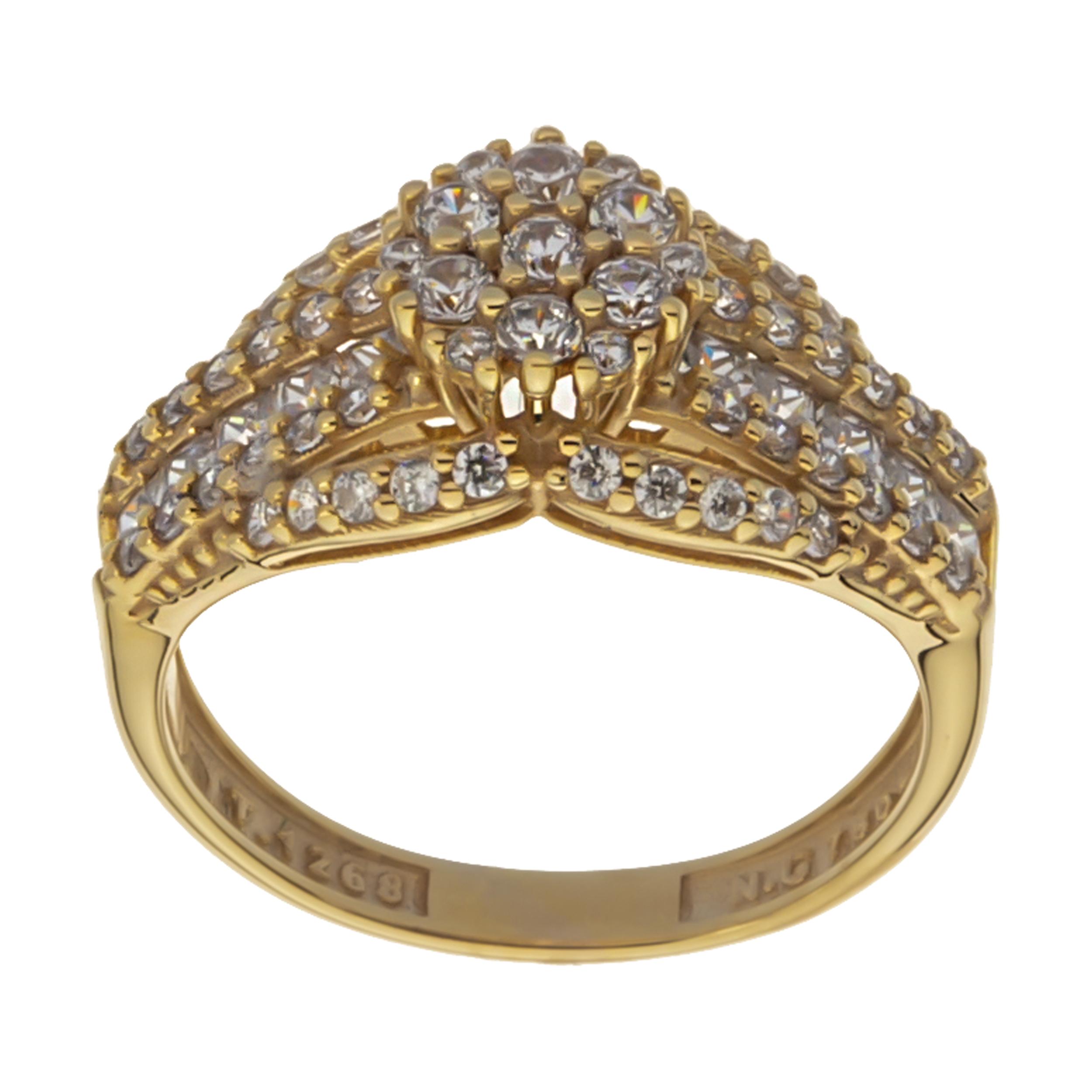 انگشتر طلا 18 عیار زنانه مایا ماهک مدل MR0427