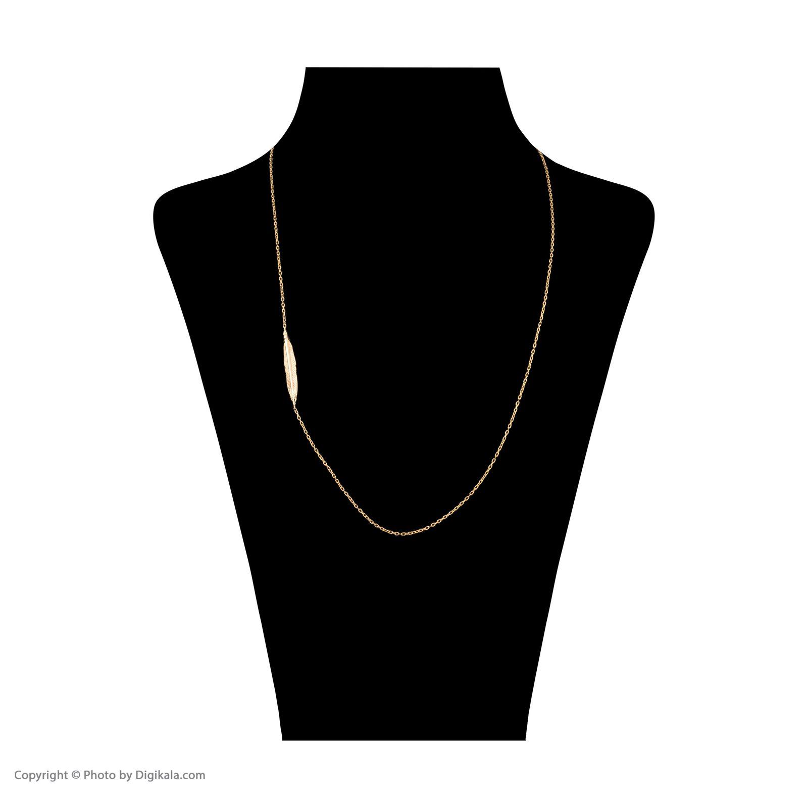 گردنبند طلا 18 عیار زنانه سنجاق مدل X081807 -  - 2