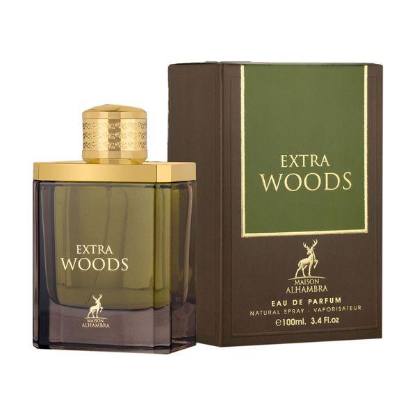 ادو پرفیوم مردانه الحمبرا مدل Extra Woods حجم 100 میلی لیتر