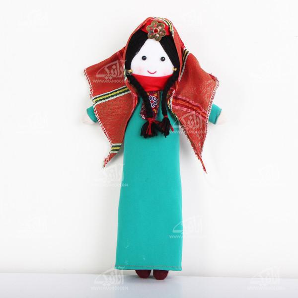 عروسک پارچه ای دست دوز  رنگ سبز طرح آرکانا مدل 1606800008