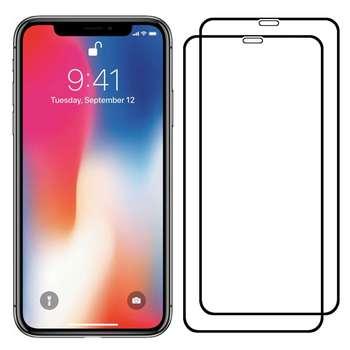 محافظ صفحه نمایش مدل FCG مناسب برای گوشی موبایل اپل iPhone X بسته دو عددی