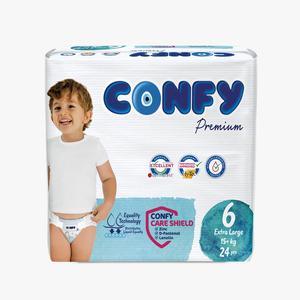 پوشک کودک کانفی سایز 6 مدل Premium بسته 24 عددی