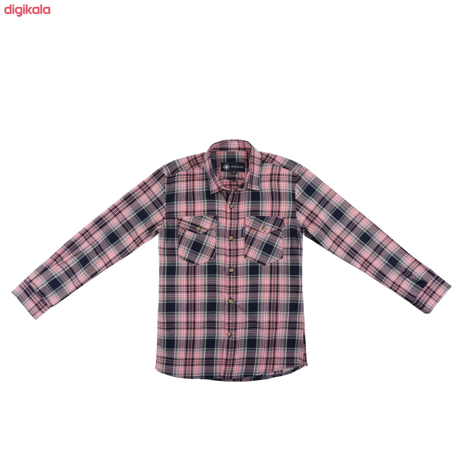 پیراهن پسرانه ناوالس کد R-20119-PK main 1 1