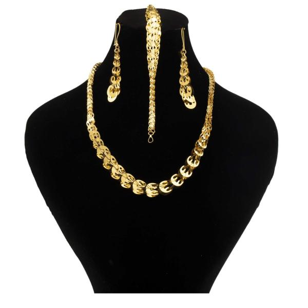 نیم ست طلا 18 عیار زنانه گالری یارطلا مدل ملیسا کد SR08
