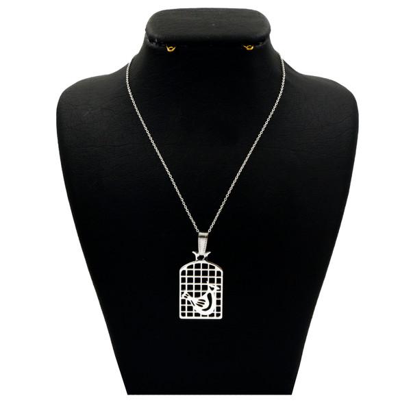 گردنبند نقره زنانه دلی جم طرح مرغ آمین کد D 187