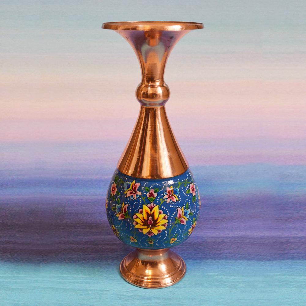 Copper Enamel vase, code 04000
