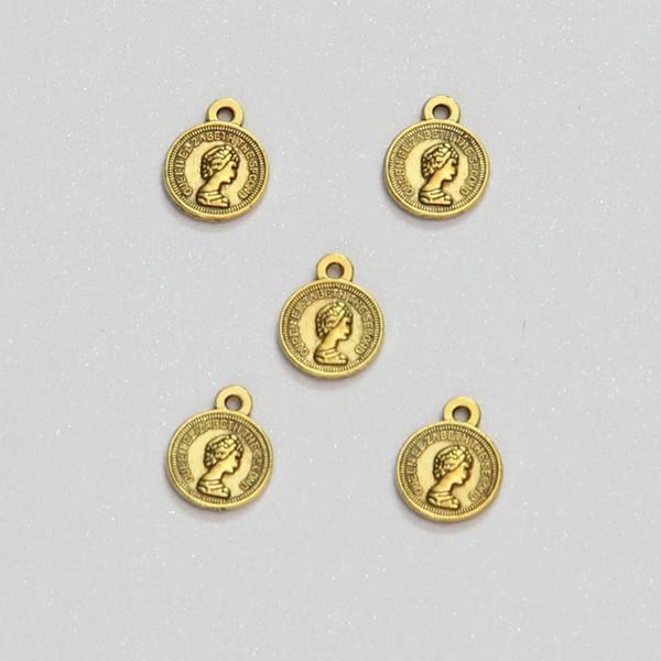 آویز دستبند طرح سکه الیزابت کد HN1706 بسته 5 عددی