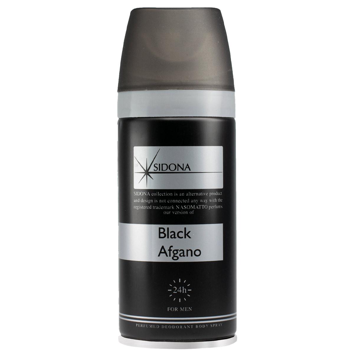 اسپری خوشبو کننده بدن مردانه سیدونا مدل Black Afgano حجم 150 میلی لیتر