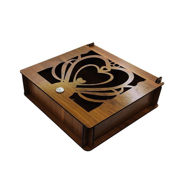 جعبه چای کیسه ای طرح سه قلب مدل F3