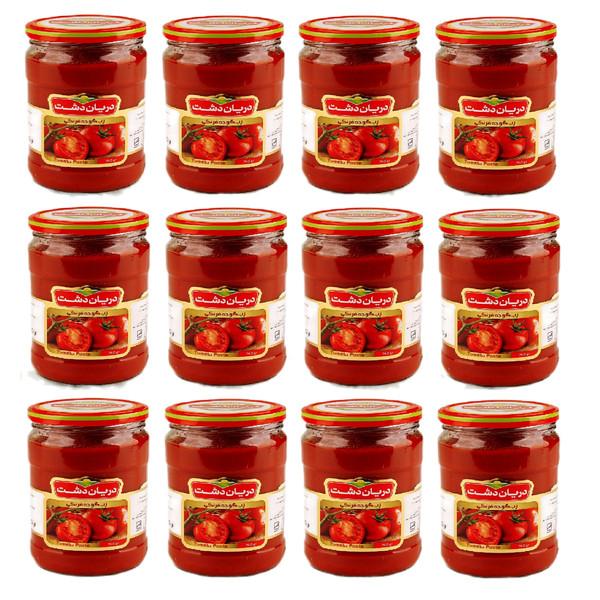 رب گوجه فرنگی دریان دشت - 700 گرم بسته 12 عددی