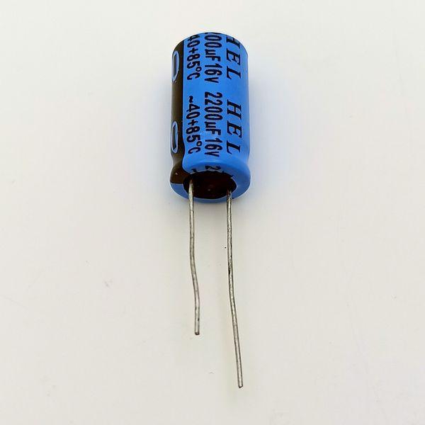 خازن 2200 میکروفاراد 16 ولت مدل RP1 بسته 5 عددی
