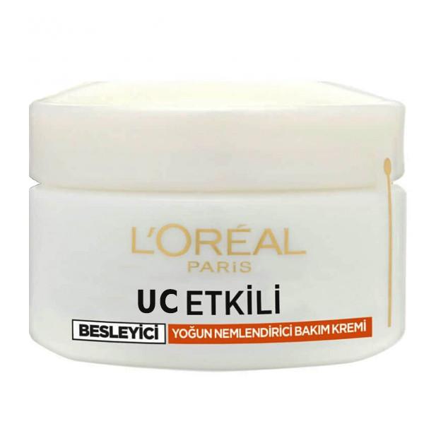 کرم مرطوب کننده و آبرسان لورآل مدل UC ETKILI BEYSLEYICI حجم 50 میلی لیتر