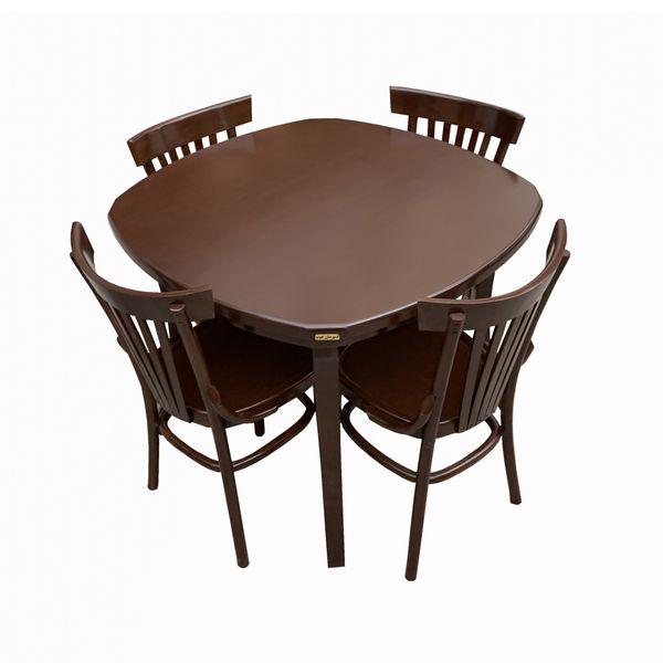میز و صندلی ناهار خوری اسپرسان چوب کد Sm86