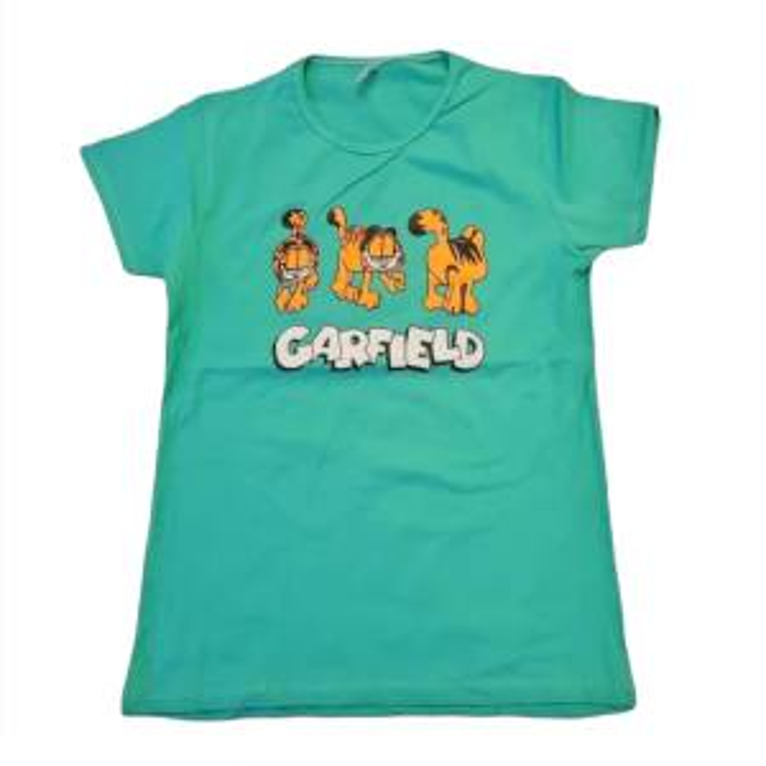تی شرت آستین کوتاه زنانه مدل گارفیلد سبز