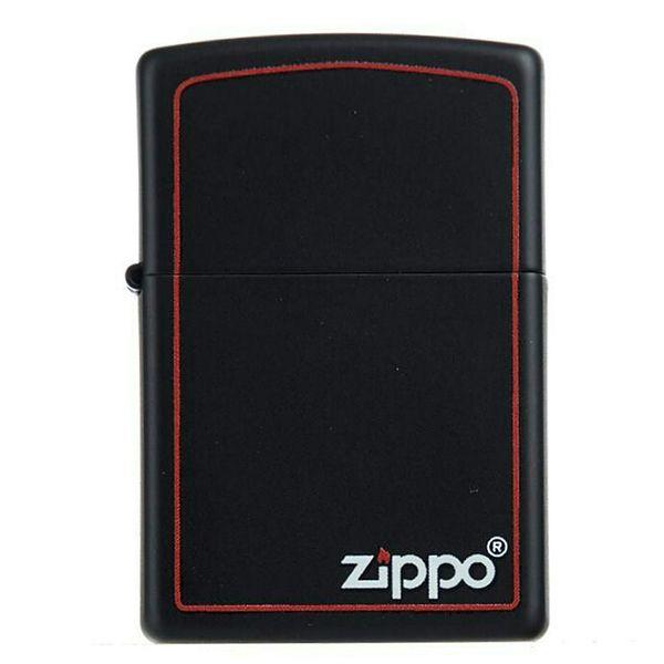 فندک زیپو مدل 218ZB-BLKMATTE W/ZIP.BORDER
