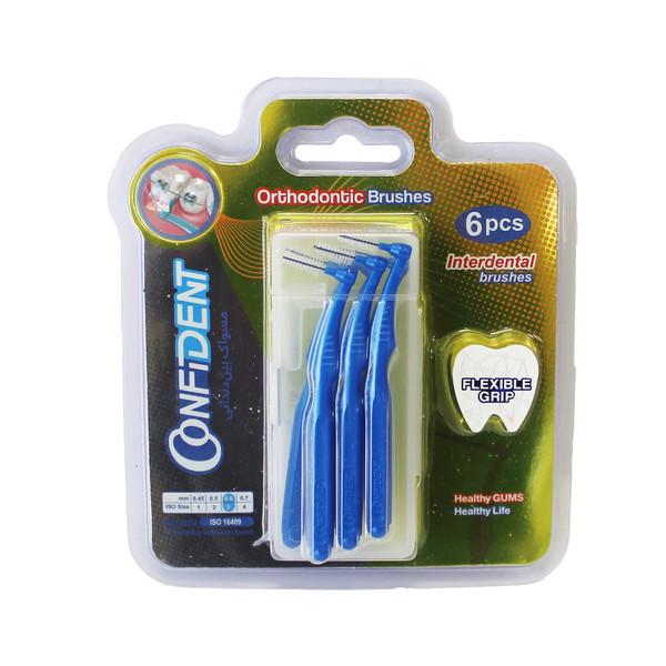 مسواک بین دندانی کانفیدنت سایز 3 بسته 6 عددی