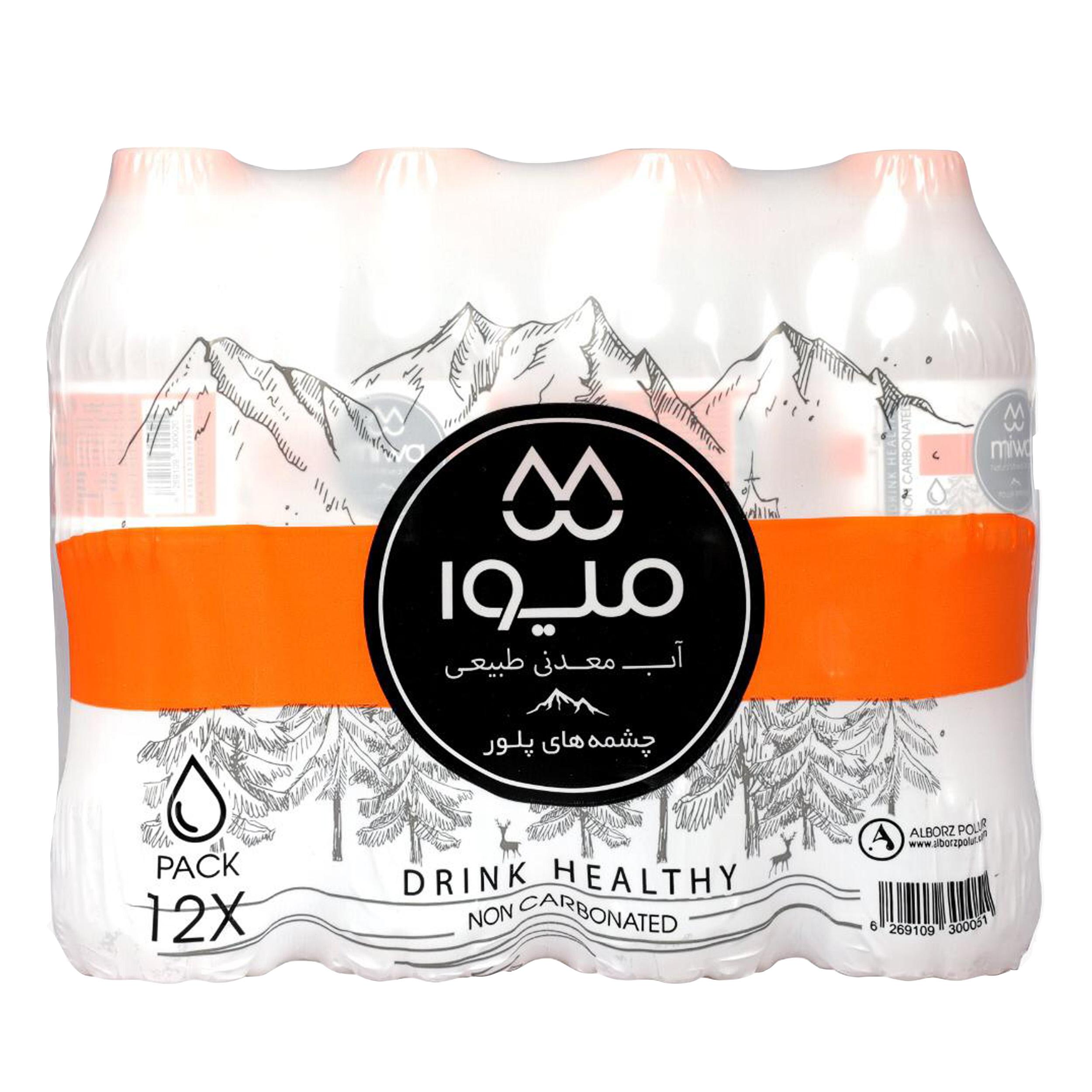 آب معدنی میوا - 500 میلی لیتر بسته 12 عددی