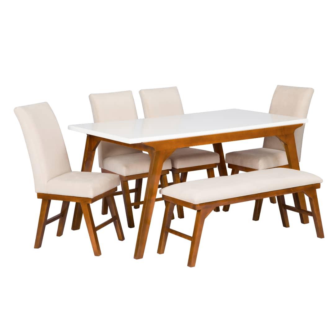 میز و صندلی غذاخوری 6 نفره مدل پرنیا کد 956