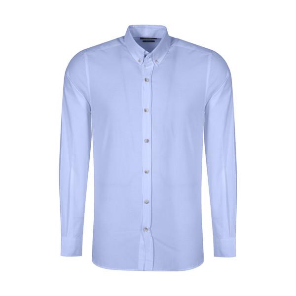 پیراهن آستین بلند مردانه ال سی وایکیکی مدل 0SA013Z8-CV4-BLUE
