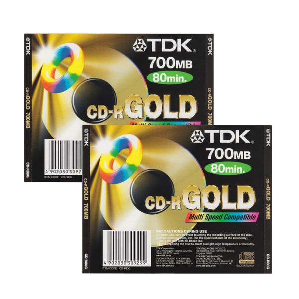 سی دی خام تی دی کی مدل CD-R بسته 2 عددی