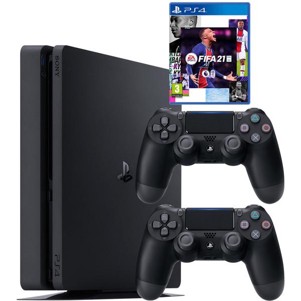 مجموعه کنسول بازی سونی مدل PlayStation 4 Slim CUH-2216A ظرفیت 500 گیگابایت به همراه بازی فیفا21