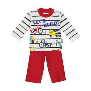 ست تی شرت و شلوار نوزادی پسرانه آدمک مدل 2171122-72