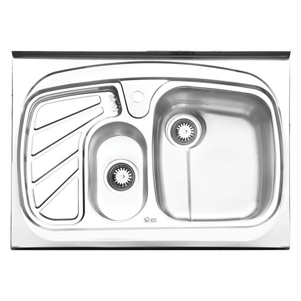 سینک ظرفشویی ایلیا استیل مدل 1018 روکار