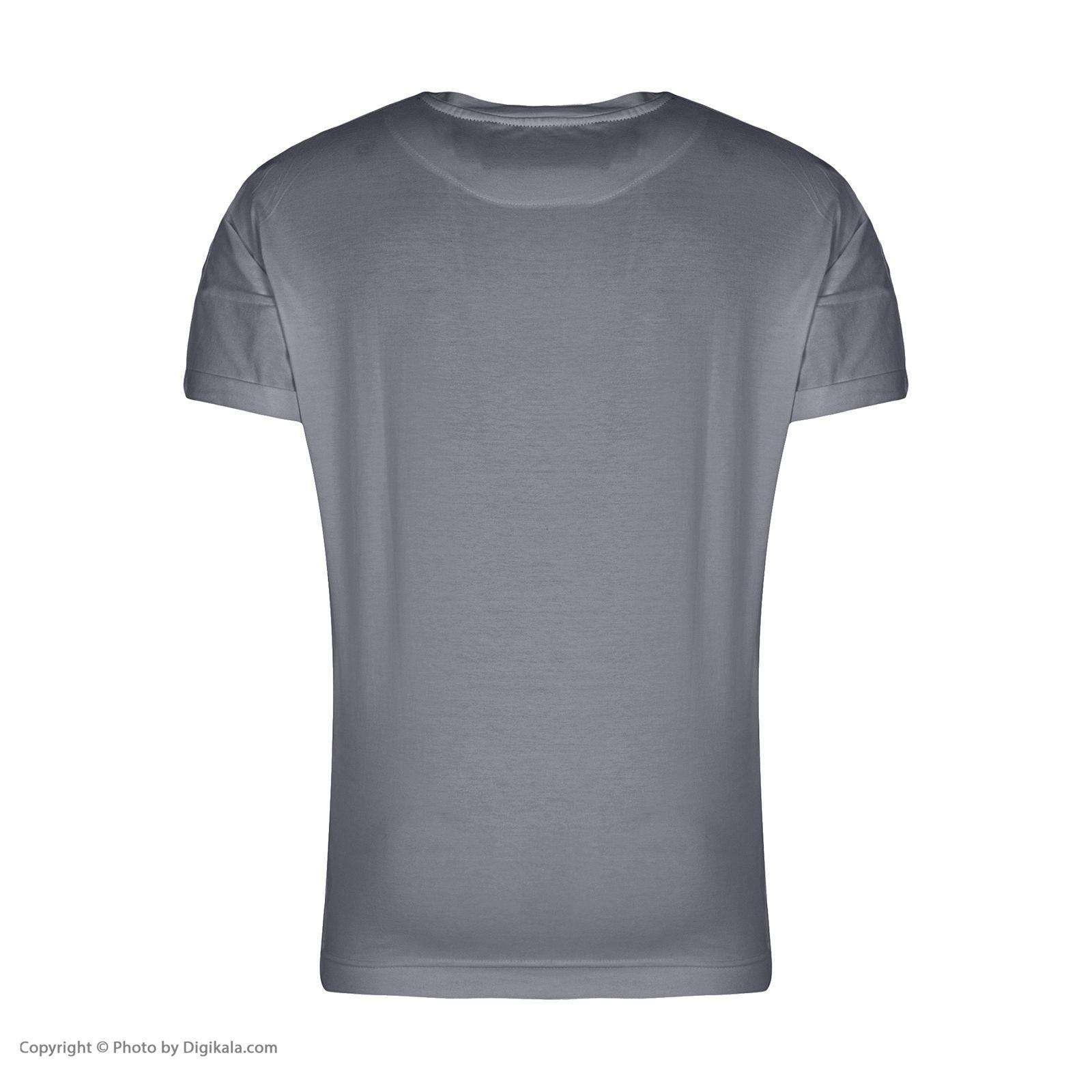 تیشرت آستین کوتاه مردانه گری مدل GW34 -  - 2
